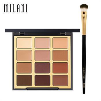 集美优彩妆 milani12色眼影+眼影刷
