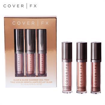 集美优彩妆 COVER FX 人鱼姬提亮液 三件套 1.6ml (香槟粉,珊瑚橘,粉紫色)