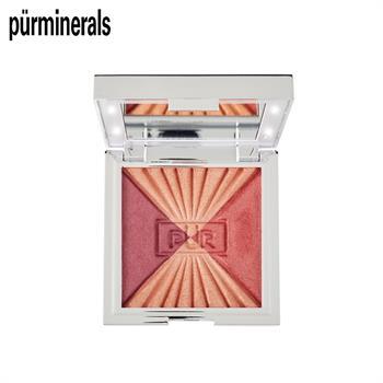 集美优彩妆 purminerals 限量版带灯三色腮红盘