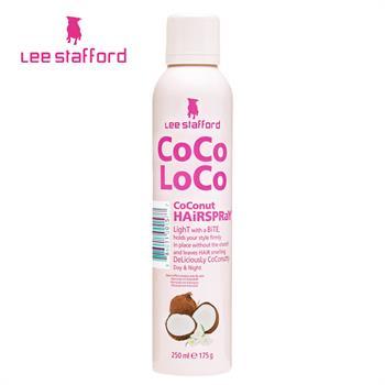 集美优彩妆 Lee Stafford 可可洛可椰子持久定型头发喷雾250ml