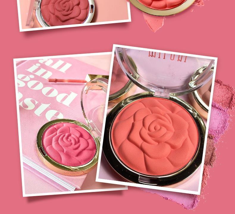 集美优彩妆 milani浮雕玫瑰花瓣腮红17g