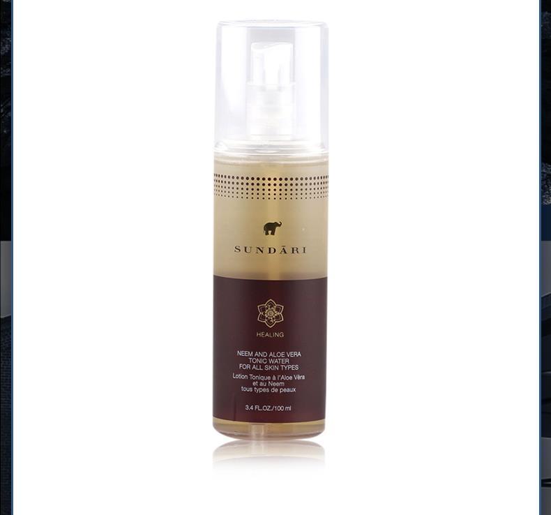 集美优彩妆 Sundari印度楝芦荟精华爽肤水 适合所有肤质 100ml